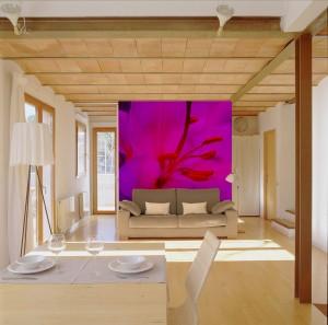 Fuchsia Flower Mural