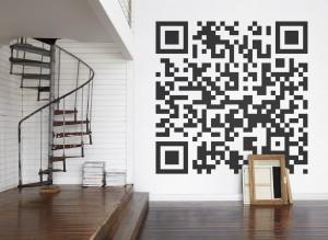QR code mural