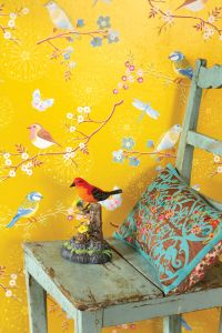 Yellow Birds Wallpaper