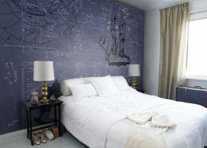 Blue Constellations Mural