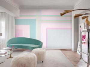 Mural Squares Pink/Green