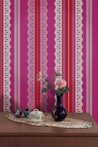 Catalina Estrada Wallpaper Lace Fucsia