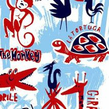 Blue Jungle Mural