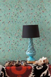 Leaf Craze Mint wallpaper by Andrea Zarraluqui