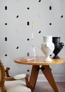 Shape Study Black wallpaper by Bobby Clark