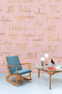 Mural Beautiful Words Pink by Isabelita Virtual