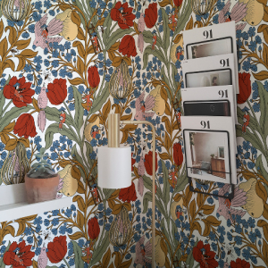 Neo- Belle-epoque White wallpaper