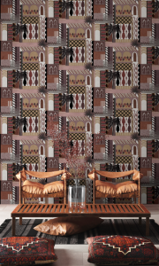 Majorelle Terracota wallpaper