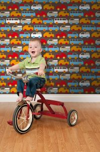 Toy Cars Brown Wallpaper