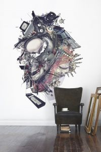 Destruction mural