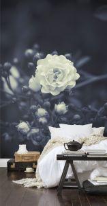 White flower mural