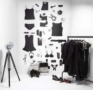 fashion black mural
