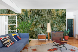 Mural Jungle Dream Forest Green by Lara Costafreda