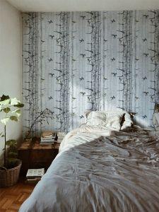 Birch Trees Grey wallpaper