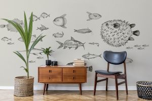 Mural Sea Current Ink