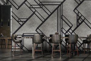 Mural L-Geometric Silver