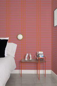 Grids Pink Wallpaper by Mut Design Studio