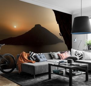 Sunrise wall mural