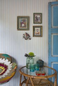 Pin Stripe Turquoise wallpaper