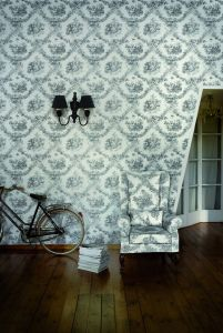 Toile de joie black wallpaper