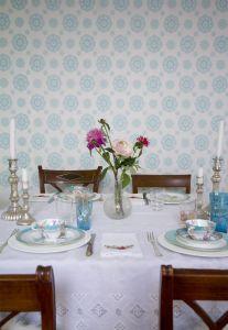 Suzani Turquoise wallpaper