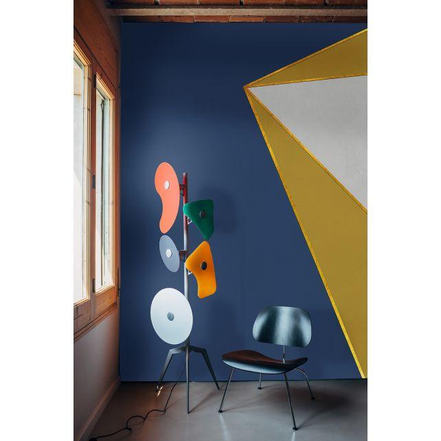Mural Ray Dark Blue