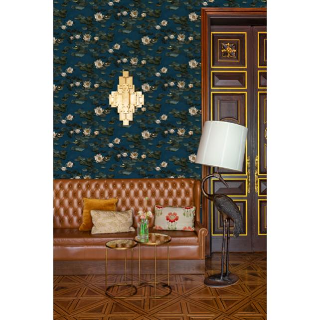 Nenúfares navy wallpaper by Ailanto brothers