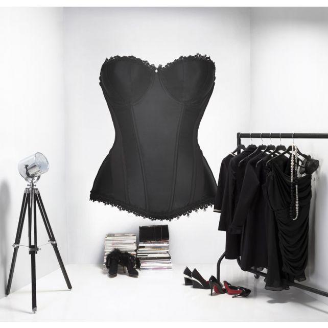 Black corset mural