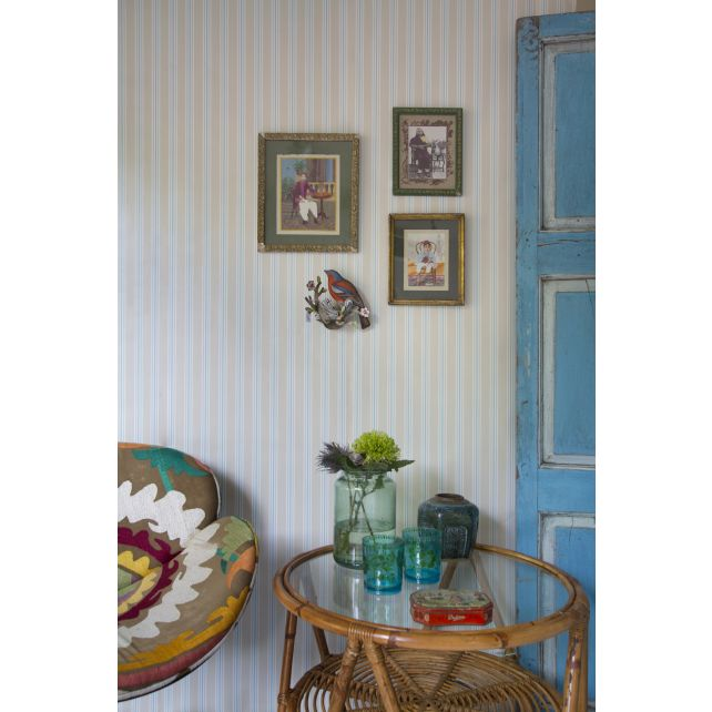 wallpaper,Room,Seven,stripes,pale,blue