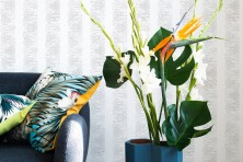 wallpaper wild stripes plant silver