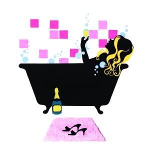 Girls in a Bath Mural