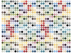 Spotty colours mural