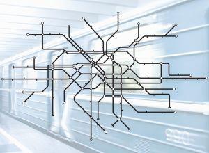 Subway Grey Mural