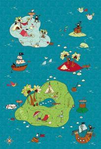 Treasure Map Kids Mural