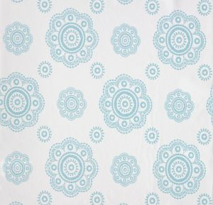 wallpaper,Room,Seven,floral,shape,turquoise