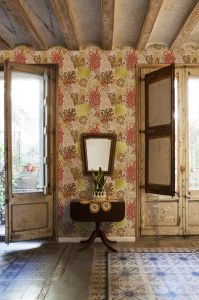 wallpaper,Catalina,Estrada,herons,turquoise,lila,white