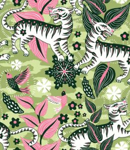 Selva de Tigres Green wallpaper by Catalina Estrada