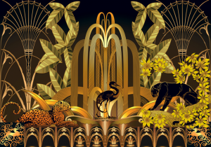 Mural Rue Babylone Gold by Juan Gatti