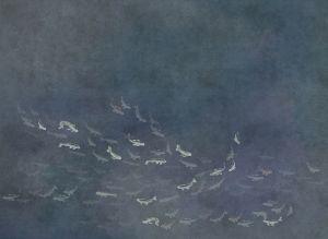 Mural Koi Night