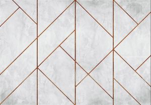 Mural Golden Line Wall Copper