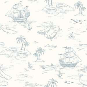 Treasure Island White wallpaper