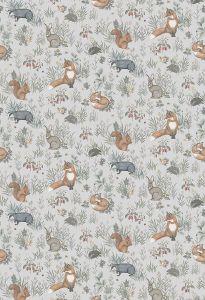 Forest Friends Grey wallpaper