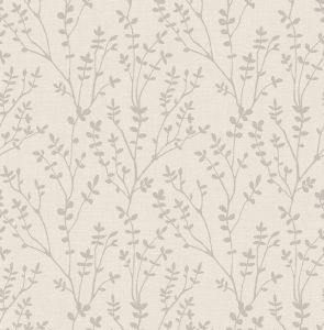 Branch Silver Wallpaper