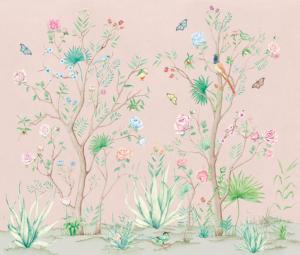 Mural Peonies Rose