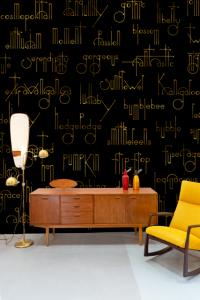Mural Beautiful Words Black by Isabelita Virtual