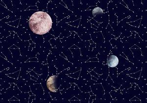 Mural Galaxy Night