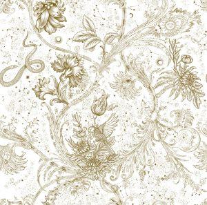 Neo-Mithology Gold wallpaper