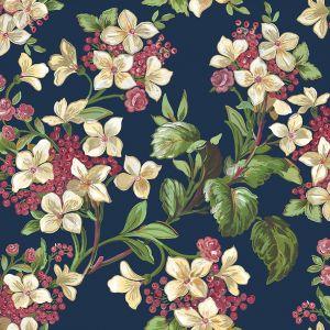 Flowery Navy wallpaper