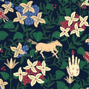 Neo-Flowery Navy wallpaper