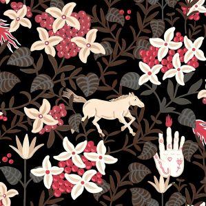Neo-Flowery Black wallpaper